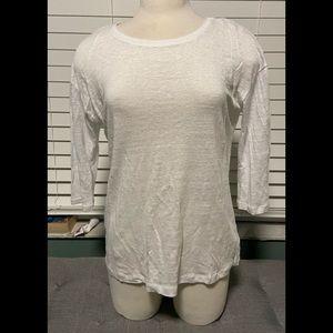 Tahari 100% linen blouse